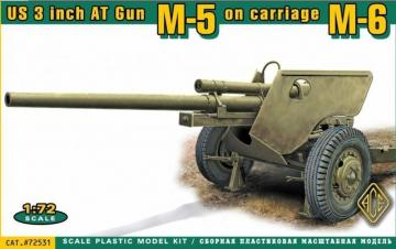 US 3 inch AT Gun M-5 on carriage M-6 · ACE 72531 ·  ACE · 1:72