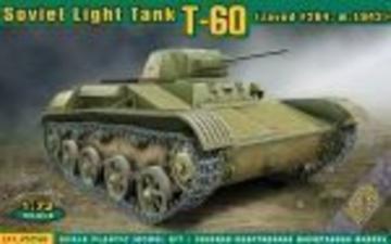 T-60 Soviet light tank(zavod #264,m1942) · ACE 72540 ·  ACE · 1:72