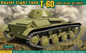 T-60 Soviet light tank(GAZ prod.m.1942) · ACE 72541 ·  ACE · 1:72