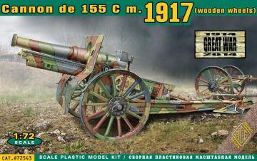 Cannon de 155 C m.1917 (wooden wheels) · ACE 72543 ·  ACE · 1:72