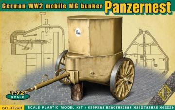 WWII German mobile MG bunker Panzernest · ACE 72561 ·  ACE · 1:72