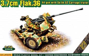 Flak.36A 3.7cm. AA gun with Sd.Ah.52 carriage trailer · ACE 72570 ·  ACE · 1:72
