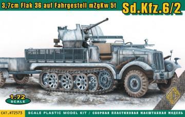 SdKfz.6/2 3.7cm Flak 36 auf Fahrgestell mZgKw 5t · ACE 72573 ·  ACE · 1:72