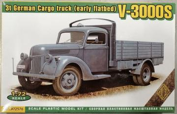 V-3000S 3t German cargo Truck (early flatbed) · ACE 72576 ·  ACE · 1:72