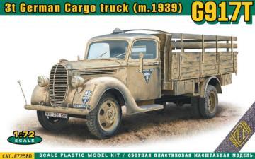 G917T 3t German Cargo truck (mod.1939) · ACE 72580 ·  ACE · 1:72