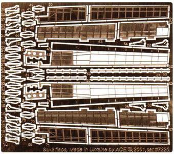 PE-Set (flaps) for Su-2 (ICM) für ICM Bausatz · ACE PE7220 ·  ACE · 1:72