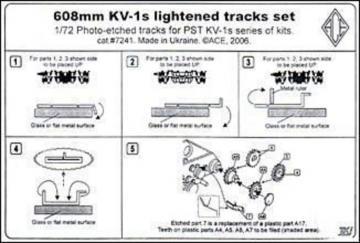 KV-1s 608mm lightened tracks set · ACE PE7241 ·  ACE · 1:72
