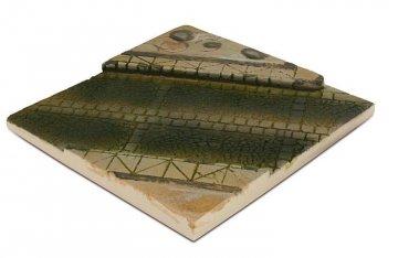 Diorama-Sockel 14x14 cm, gepflasterte Straße · VAL 03495 ·  Acrylicos Vallejo · 1:35