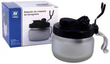 Reinigungsstation mit Airbrushhalter · VAL 26005 ·  Acrylicos Vallejo