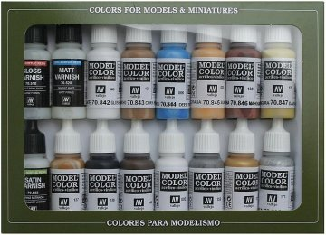 Farbset, Folkstone specialist,16 x 17 ml · VAL 70102 ·  Acrylicos Vallejo