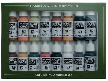 Model Color Set 07: WWII German Colours (16) · VAL 70107 ·  Acrylicos Vallejo