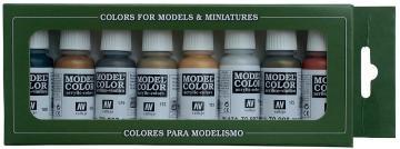 Model Color Set Metallic Colors (8) · VAL 70118 ·  Acrylicos Vallejo
