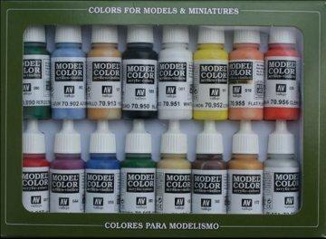 Model Color Set Basic Colors U.S.A. (16) · VAL 70140 ·  Acrylicos Vallejo