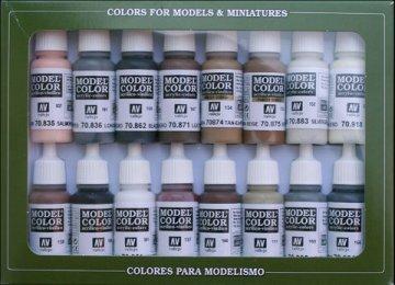 Model Color Set Equestrian Color (16) · VAL 70144 ·  Acrylicos Vallejo