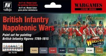 Farbset, Britische Infanterie, Napoleonische Kriege · VAL 70163 ·  Acrylicos Vallejo