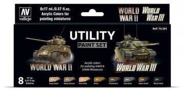 Farb-Set, World War II & World War III (8x17ml) · VAL 70201 ·  Acrylicos Vallejo
