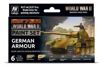 Farb-Set, Deutsche Panzerung, WWII (6x17ml) · VAL 70205 ·  Acrylicos Vallejo