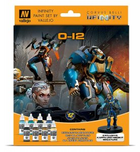 Infinity O-12, Farb-Set mit Figur · VAL 70239 ·  Acrylicos Vallejo