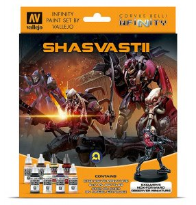 Infinity Shasvastii, Farb-Set mit Figur · VAL 70241 ·  Acrylicos Vallejo