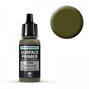 Grundierung U.S. Olive Drab 17ml (Surface Primer) · VAL 70608 ·  Acrylicos Vallejo