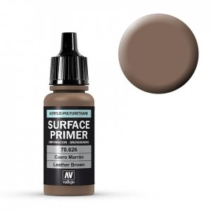 Leather Brown - Surface Primer - 17 ml · VAL 70626 ·  Acrylicos Vallejo
