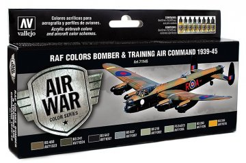 Air War - Farbenset RAF Bomber & Trainiing 1939-1945 - 8x17ml · VAL 71145 ·  Acrylicos Vallejo