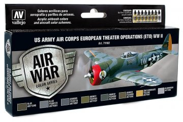 USA Flugzeuge WWII - Air War - Farbset  · VAL 71182 ·  Acrylicos Vallejo