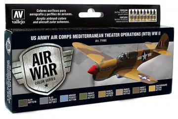 Farbset, USA Flugzeuge WWII [Air War Color Series] · VAL 71183 ·  Acrylicos Vallejo