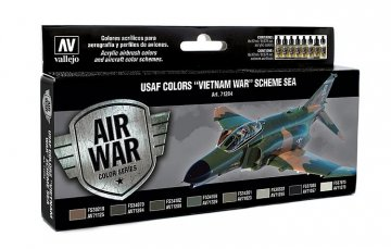 Farbset, USAF Vietnam-Krieg, Schema SEA · VAL 71204 ·  Acrylicos Vallejo