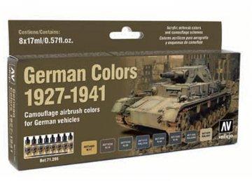 Deutsche Farben 1927-1941, Militär - Farbset · VAL 71205 ·  Acrylicos Vallejo
