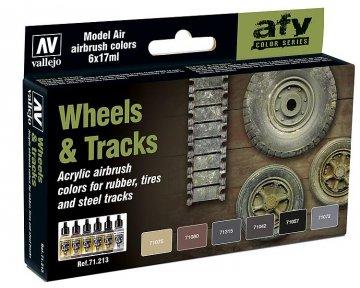 Farbset - Reifen und Ketten (6x17ml) · VAL 71213 ·  Acrylicos Vallejo