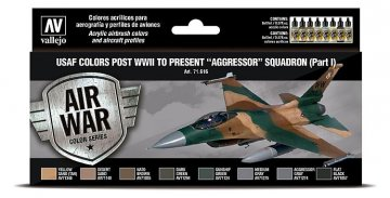 Farbset - USAF 1940er bis heute - Aggressor Squadron (8 x 17ml) · VAL 71616 ·  Acrylicos Vallejo