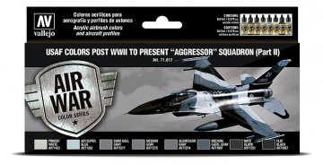 Farbset - USAF 1940er bis heute - Aggressor Squadron - Part 2 (8 x 17ml) · VAL 71617 ·  Acrylicos Vallejo