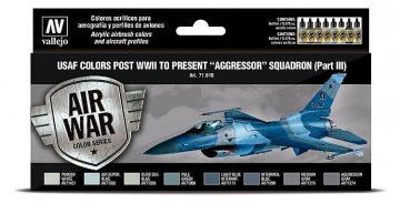 Farbset - USAF 1940er bis heute - Aggressor Squadron - Part 3 (8 x 17ml) · VAL 71618 ·  Acrylicos Vallejo