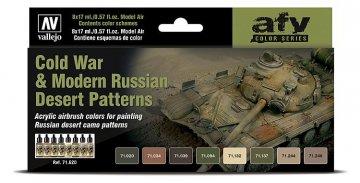 Farbset - Kalter Krieg bis heute - Russische Wüstentarnung (8 x17ml) · VAL 71620 ·  Acrylicos Vallejo
