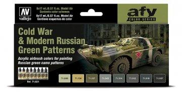 Farbset - Kalter Krieg bis heute - Russische Grünmuster (8 x 17ml) · VAL 71621 ·  Acrylicos Vallejo
