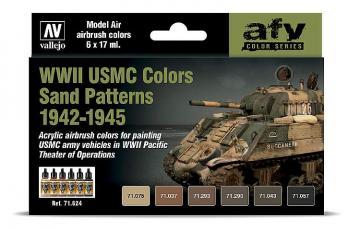 Farbset - WWII USMC Sand Tarnung · VAL 71624 ·  Acrylicos Vallejo