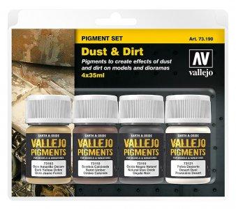 Pigment-Set Staub und Schmutz · VAL 73190 ·  Acrylicos Vallejo