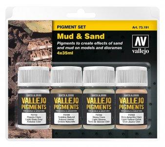 Pigment-Set Schlamm und Sand · VAL 73191 ·  Acrylicos Vallejo