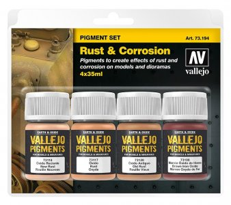 Pigment-Set Rost und Korrosion · VAL 73194 ·  Acrylicos Vallejo