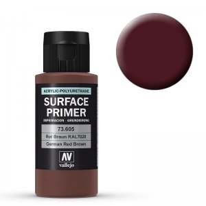Grundierung 605 Rotbraun (Primer German Red Brown) RAL 8012 60ml · VAL 73605 ·  Acrylicos Vallejo