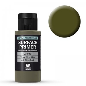 Grundierung 608 US Olivbraun (Primer US Olive Drab) 60ml · VAL 73608 ·  Acrylicos Vallejo