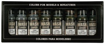 Farbset, Washes, 8x17 ml, GameColor · VAL 73998 ·  Acrylicos Vallejo