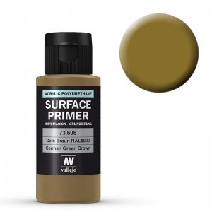 Grundierung 606 Grünbraun (Primer Green Brown) RAL 8000 200ml · VAL 74606 ·  Acrylicos Vallejo