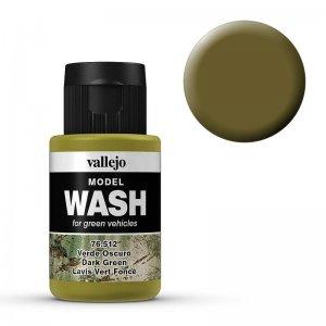 Model Wash 512 - Dark Green · VAL 76512 ·  Acrylicos Vallejo