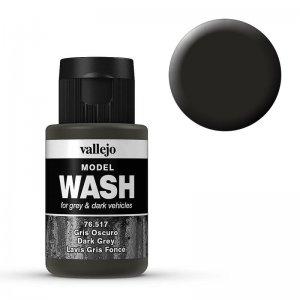Model Wash 517 - Dark Grey · VAL 76517 ·  Acrylicos Vallejo