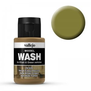 Model Wash 520 - Dark Khaki Green · VAL 76520 ·  Acrylicos Vallejo