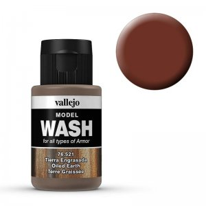 Model Wash 521 - Oiled Earth · VAL 76521 ·  Acrylicos Vallejo