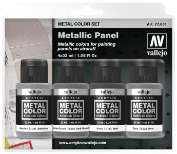 Farbset, Metall-Finish · VAL 77601 ·  Acrylicos Vallejo