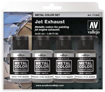 Farbset, Metall, Auspuff · VAL 77602 ·  Acrylicos Vallejo